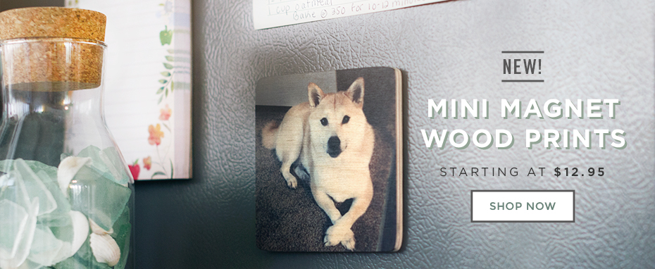 Mini Magnet Wood Prints