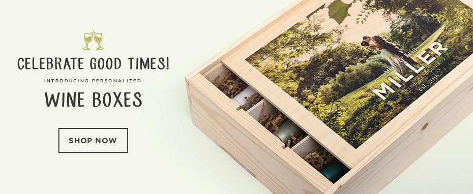 WoodSnap Personalized Wine Boxes